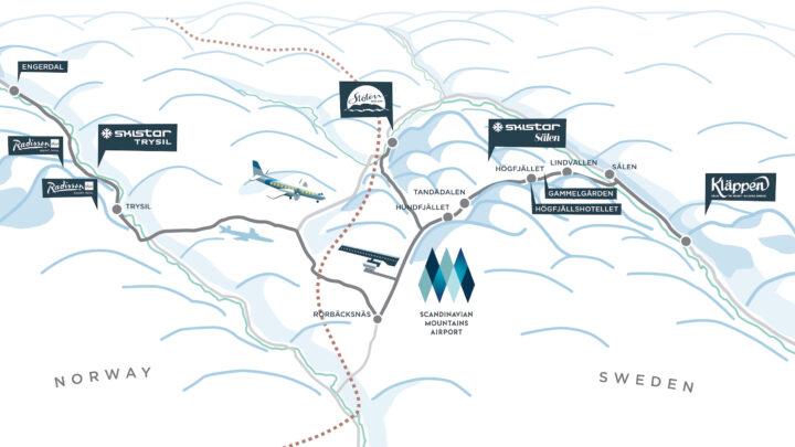 Flyv på skiferie til Norge og Sverige