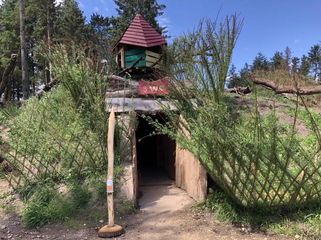 Indgangen til toilettet i WOW Park