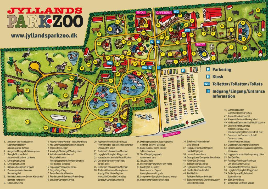 Kort over Jyllands Zoo