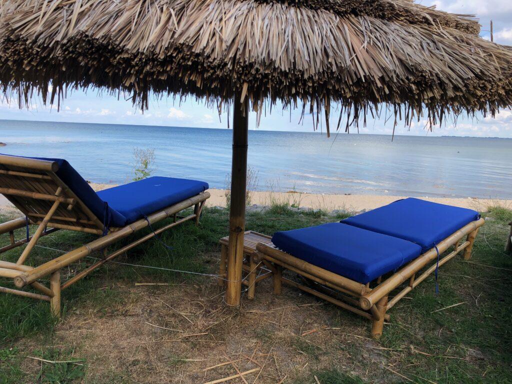 Mulighed for solbadning på Bøsøre Strand
