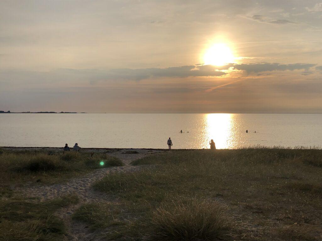 Solnedgang ved Vesterlyng Strand (Foto: ferieogborn.dk)