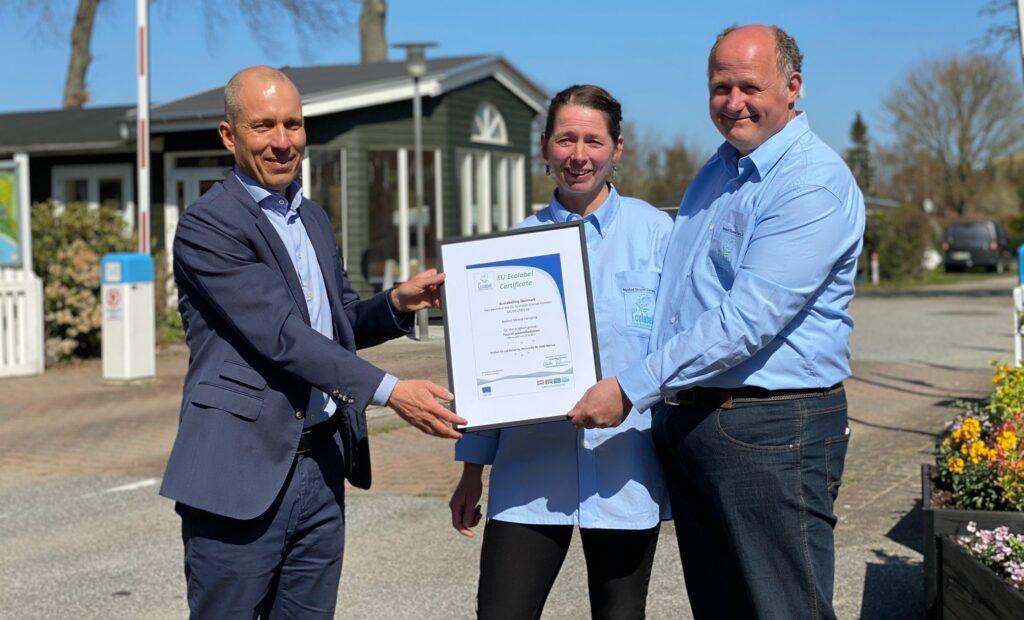 Eu-Blomsten gives til første campingplads i Danmark
