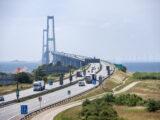 Trafik på storebæltsbroen (Foto: Sund og Bælt)