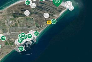 Find Geocaches i Danmark via kortet (Foto: Fra Geocaching APP)